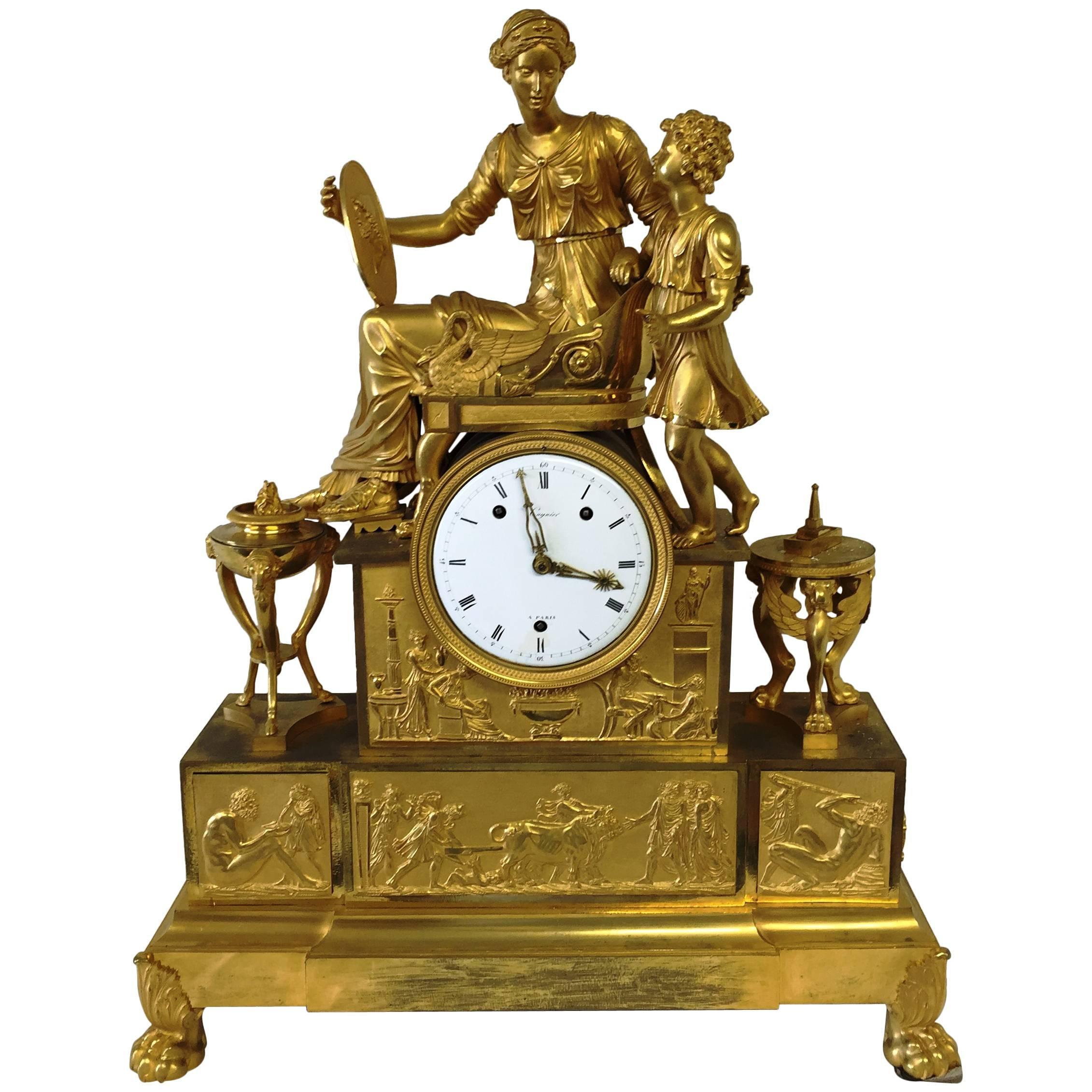 Empire Period Mantel Clock