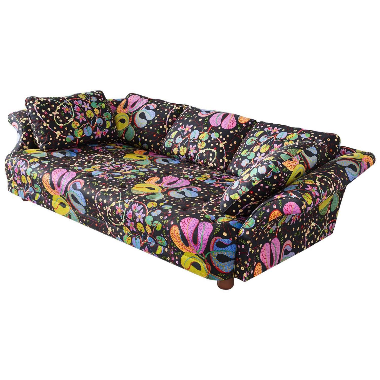 Josef Frank 'Liljevalchs' Sofa In Colorful Fabric By J