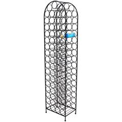 Large Tall Wrought Iron Wine Rack