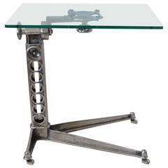 Industrial Adjustable Work Table, English, circa 1920
