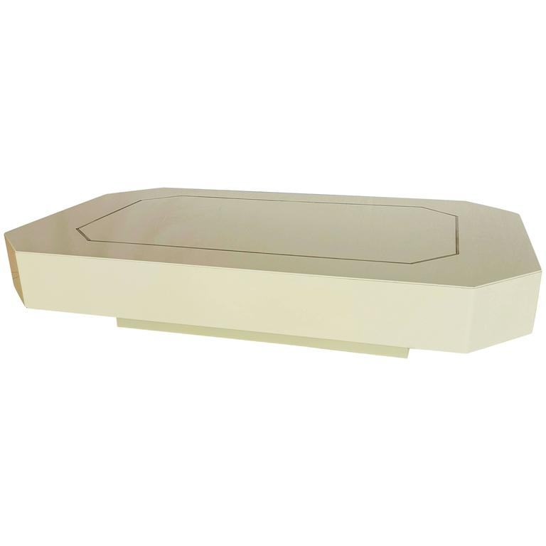 White Lacquered Coffee Table By Jean Claude Mahey 1970s For Sale At 1stdibs