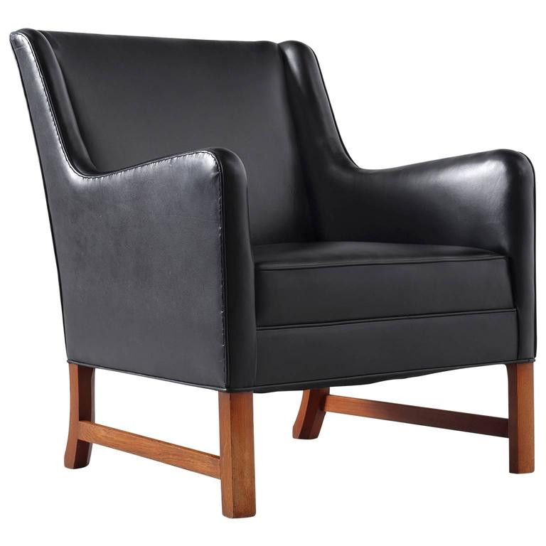 early rud rasmussen black leather easy chair is no longer available