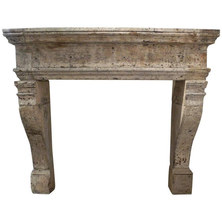 large antique 17th century mantel with carved legs