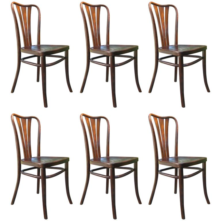 Set Of Six Thonet Dining Chairs For Sale At 1stdibs