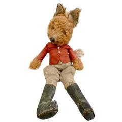 20th Century Stuffed Clothed Fox