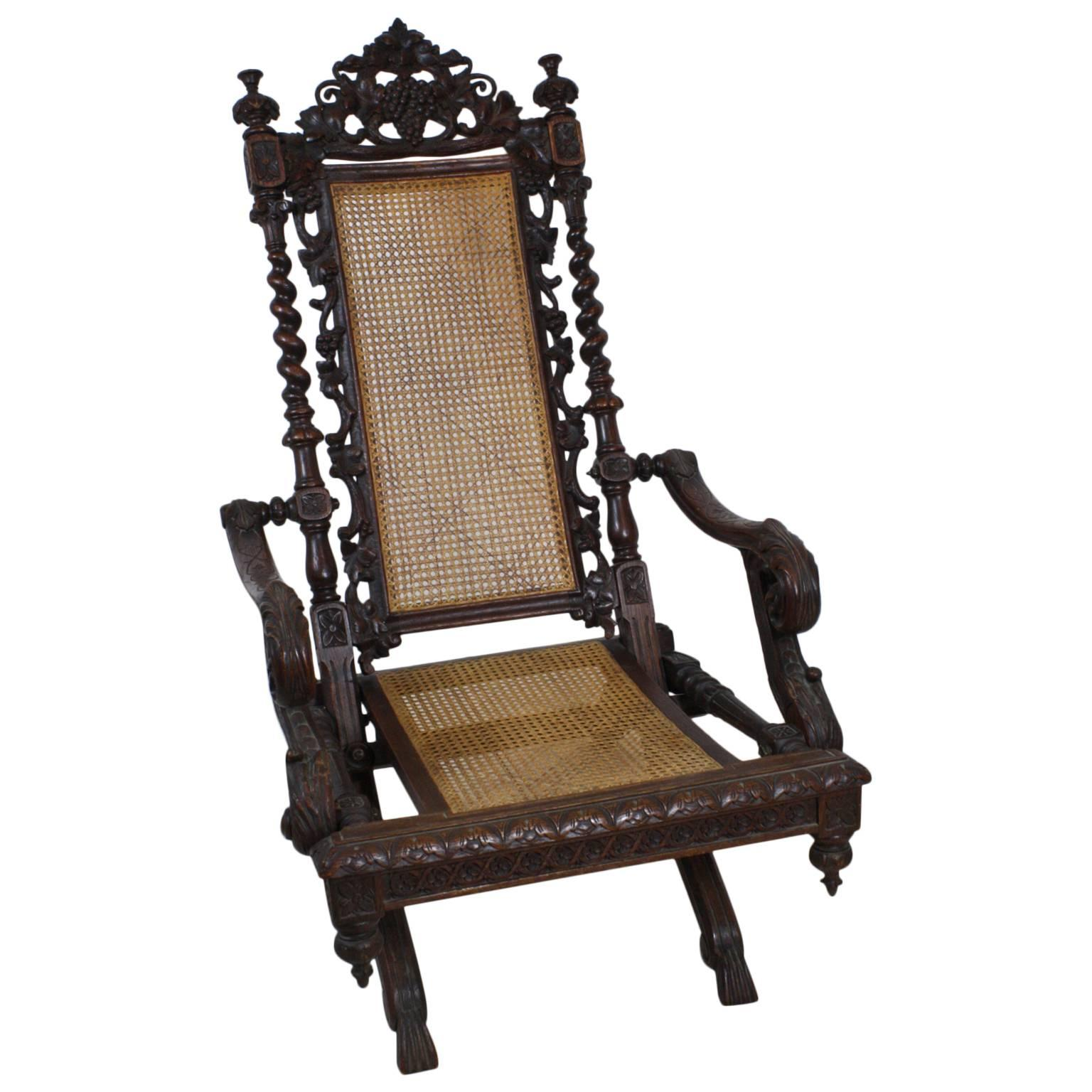19th Century French Folding Hunt Chair