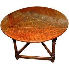 19th Century Oak Tavern Side Table