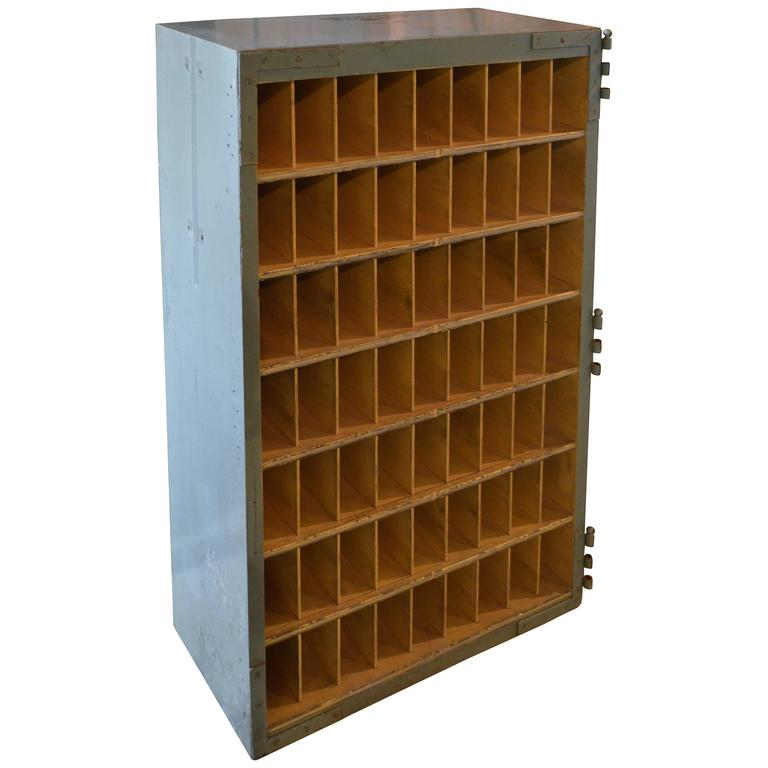 American Furniture Warehouse Mail: Cabinet Used To Slot Mail, US Postal Service, 1957 At 1stdibs