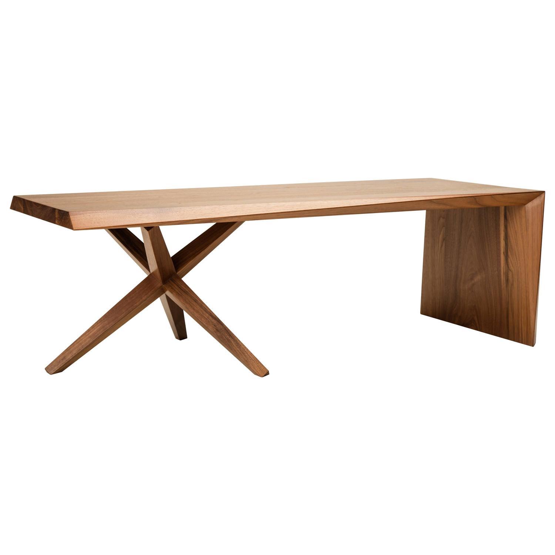 Twist Table Solid Walnut Alternating Bevel Design At 1stdibs