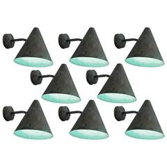 Hans-Agne Jakobsson Set of Eight Copper Wall Lights