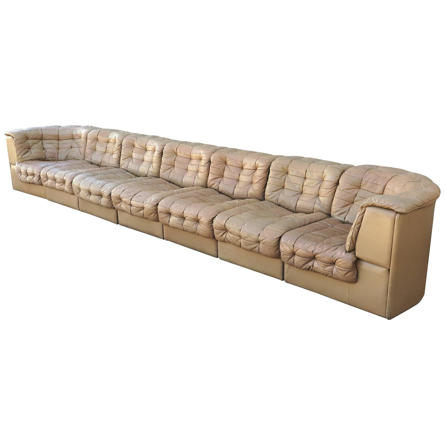 de sede light brown leather modular sofa for sale at 1stdibs