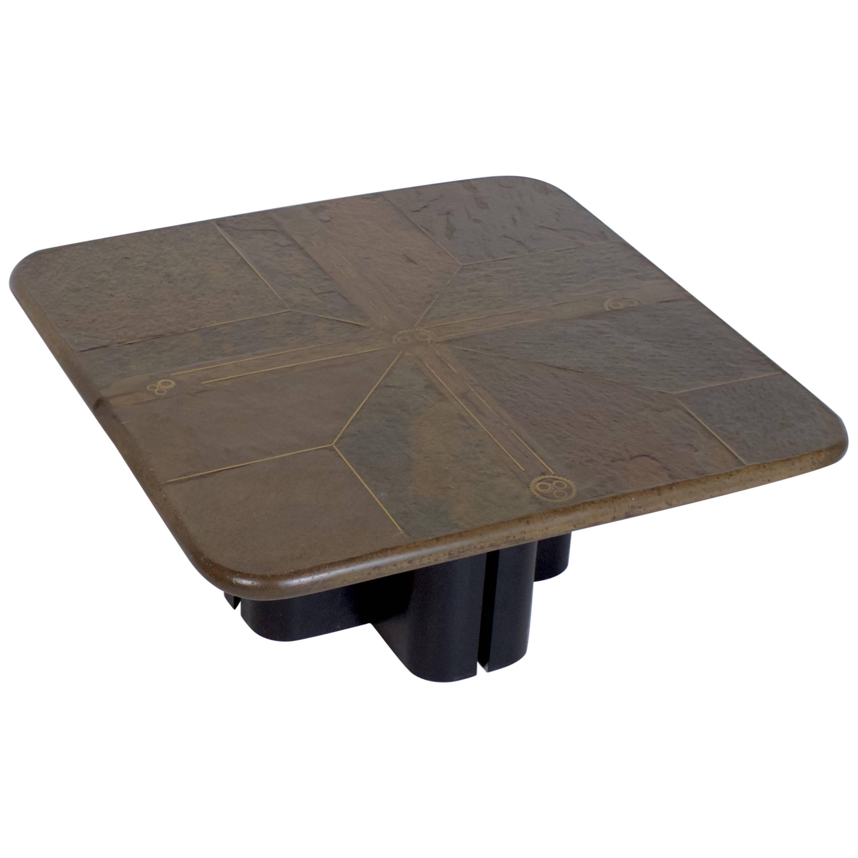 Brutalist Paul Kingma Style One-Off Coffee Table