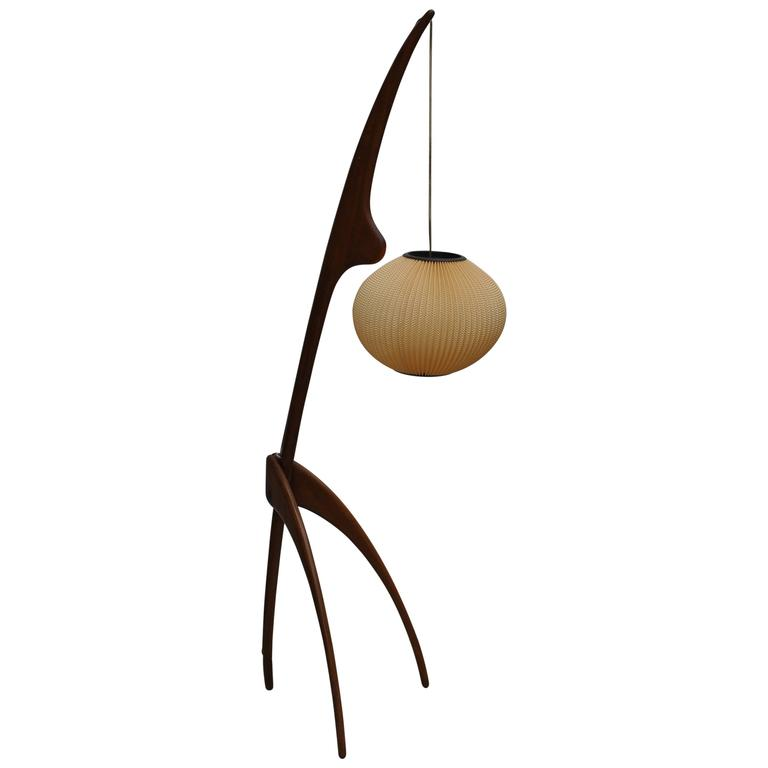 this iconic 39 praying mantis 39 floor lamp 39 by jean rispal france. Black Bedroom Furniture Sets. Home Design Ideas
