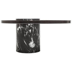 Low Black Marble Table by La Chance