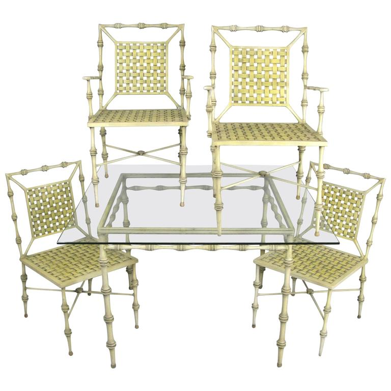 Vintage 1960s Aluminum Dining Set by Phyllis Morris at 1stdibs