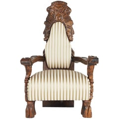 Ornate Tiki Throne Chair by William Westenhaver for WITCO, 1950s