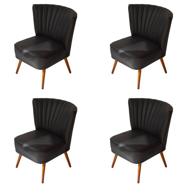 Set Of Four 1950s Cocktail Chairs For Sale At 1stdibs