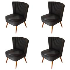 Set of Four 1950s Cocktail Chairs