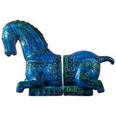 Aldo Londi for Bitossi 'Tang Horse' Bookends