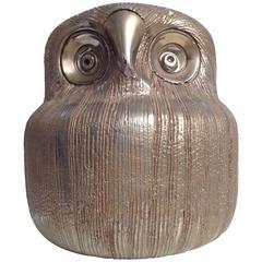 Beautiful Ceramic Owl, Italy, 1970