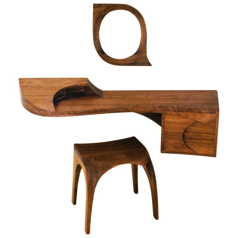 """Ménage a Trois"" Wall-Mounted Dressing Table by Michael Coffey"