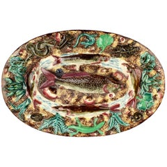 Antique French Palissy Majolica Fish Tray or Charger