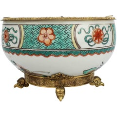 Gilded Age E F Caldwell Bronze-Mounted Chinese Export Porcelain Ashtray