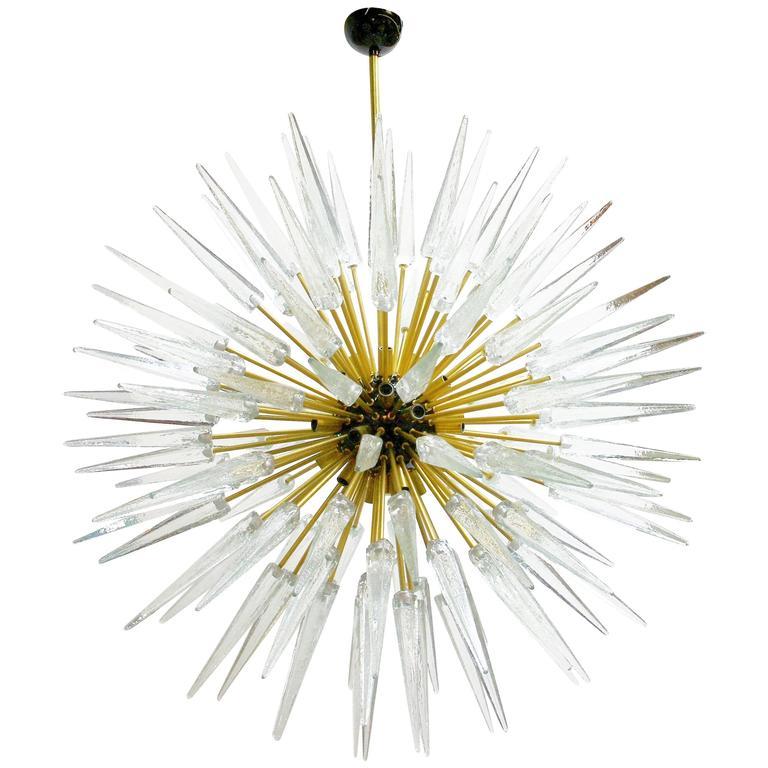 Murano Shards and Brass Sputnik