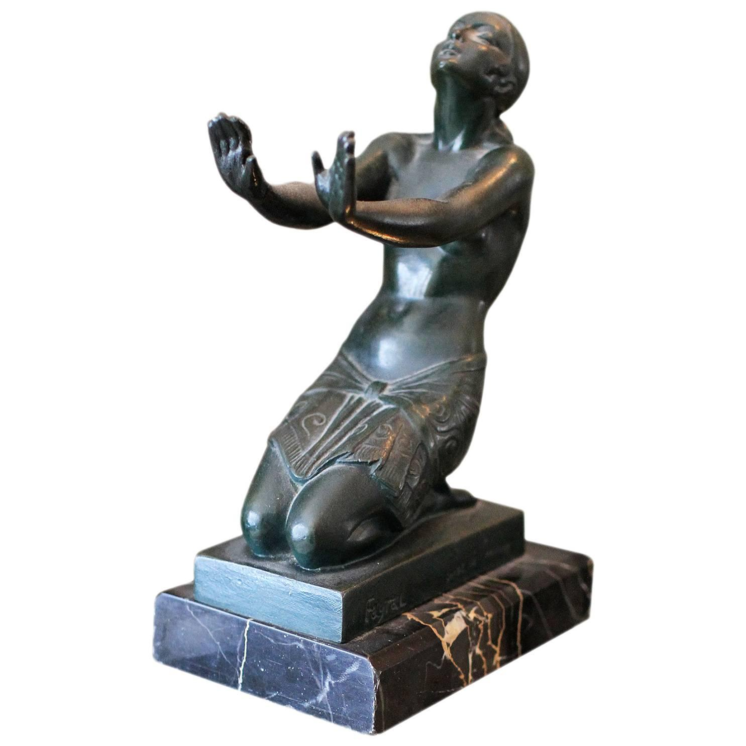 Pierre Le Faguays Fayral Bronze Art Deco Sculpture 1930