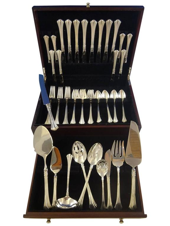 18th Century by Reed & Barton Sterling Silver Flatware Set Service 50 Pcs
