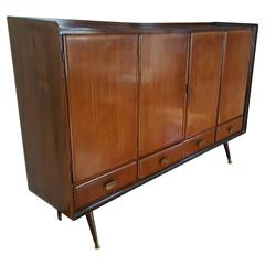Italian Modern Sideboard/Bar, Italian Walnut Manner of Paolo Buffa