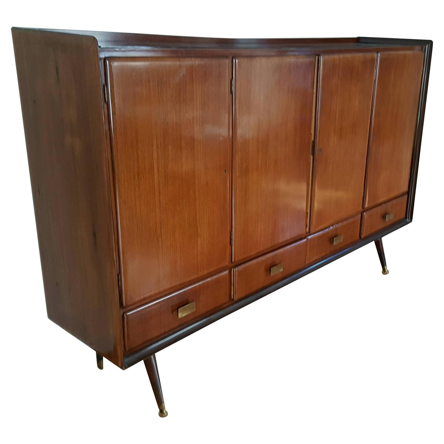 Italian Modern Sideboard Bar Italian Walnut Manner Of Paolo Buffa For Sale At 1stdibs