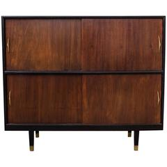 Modern Mexican Lacquer and Mahogany Cabinet, 1950s