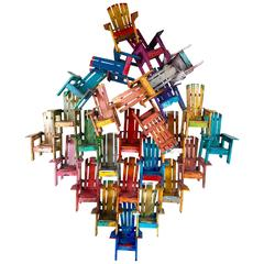 """Large Chair Jumble"" Wall Sculpture by Paul Jacobsen"