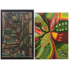 Pair or Single Monumental Unmatched Abstract Impressionism Paintings
