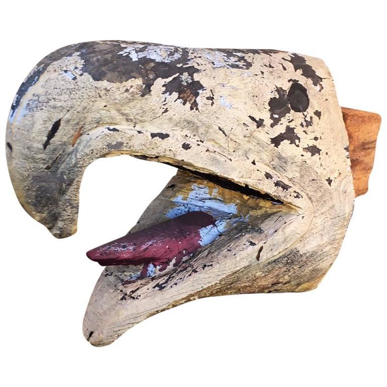 Antique TOTEM Pole Relic, Eagle or Thunderbird Beak