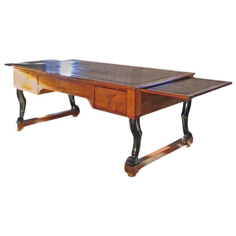 Early 19th century French Mahogany Empire Desk