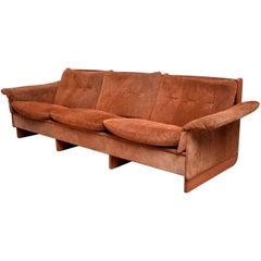 Sumptuous Suede Sofa Danish Modern  Ebbe Gehl & Soren Nissen, Denmark 1960s