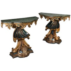 Pair of Roman Console Tables