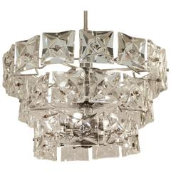 Grand Scale Three-Tier Kinkeldey Chandelier