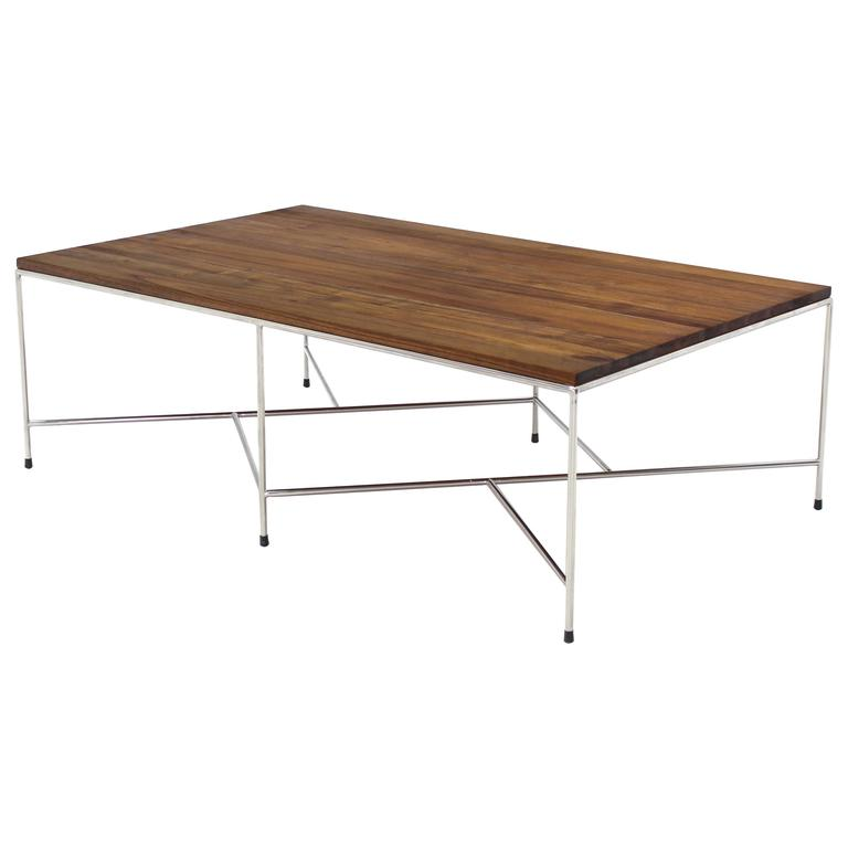 Z Base Stainless Base Solid Top Coffee Table