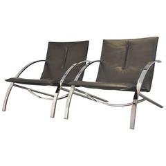 Paul Tuttle Arco Lounge Chairs for Strässle, 1970s