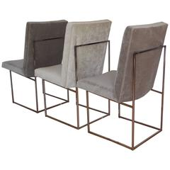 Three Milo Baughman Occasional Dining Chairs