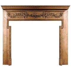 19th Century George III Style Pine Chimneypiece