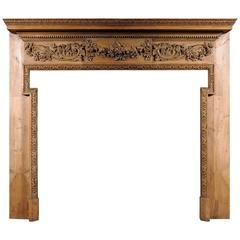 19th Century George III Style Pine Chimneypiece