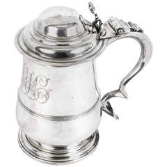 Antique English George III Silver Tankard, 1762