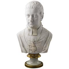 Biscuit-Porcelain Bust of Archduke Rudolph of Austria, Elias Hütter, Vienna 1820