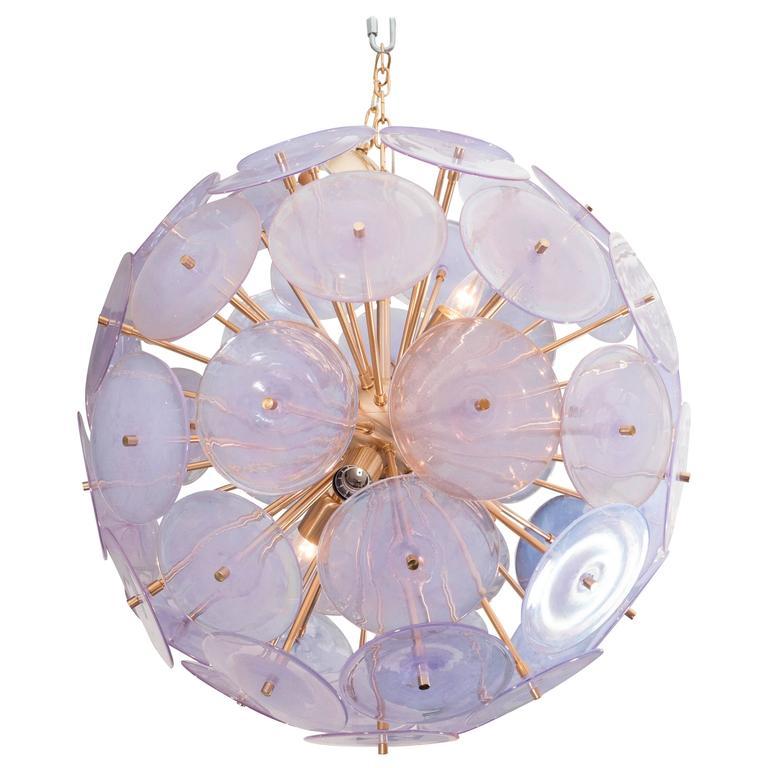 Iridescent Murano Disc Sputnik Chandelier 1