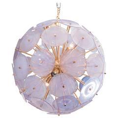 Iridescent Murano Disc Sputnik Chandelier