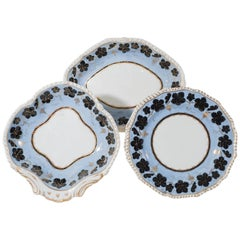 English Porcelain Dessert Dishes (15 pieces)